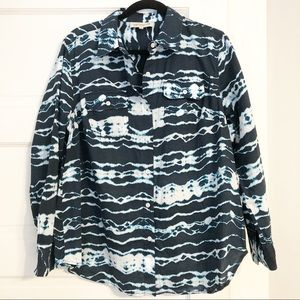 Jones New York Sport Tie-Dye Look Button Up 1X